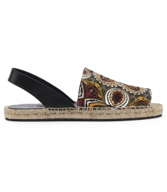 ETRO - AFRICAN PRINTED OPEN TOE ESPADRILLES
