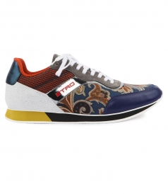MULTICOLORED LOW TOP TRAINERS FT PAISLEY PRINTING