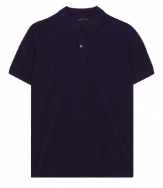 PAISLEY PRINTED SHORT SLEEVE POLO SHIRT IN PURE COTTON