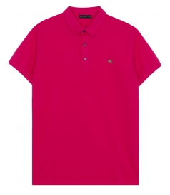 ETRO - PIQUE SHORT SLEEVE POLO SHIRT IN COTTON