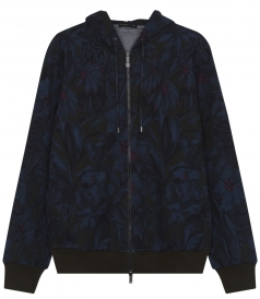 ETRO - FLORAL PRINTED LONG SLEEVE HOODIE IN COTTON BLEND