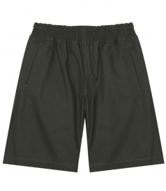 MID-LENGTH SHORTS WITH ELASTICATED WAIST IN COTTON