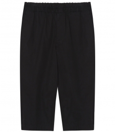CROPPED PANTS WITH ELASTICATED WAIST IN COTTON