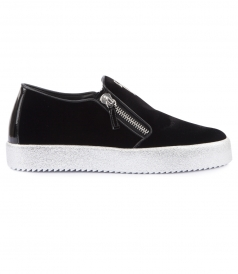 VERONICA SUEDE LEATHER SLIP-ON SNEAKERS
