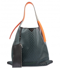 RIZO LARGE HOBO PERFORATED TOTE BAG