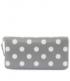 ACCESSORIES - POLKA DOT PRINTED ZIPPED WALLET
