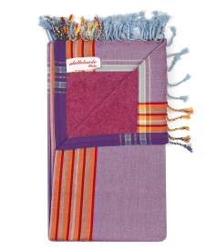SOLID MULTICOLORED BEACH TOWELS FT FRINGED TRIM