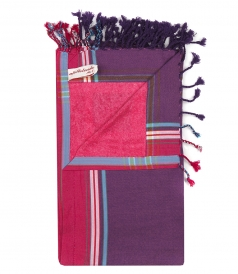 SOLID KIKOY MULTICOLORED BEACH TOWEL IN COTTON