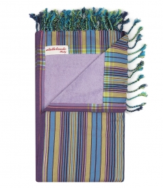 STRIPE MULTICOLORED BEACH TOWELS IN COTTON