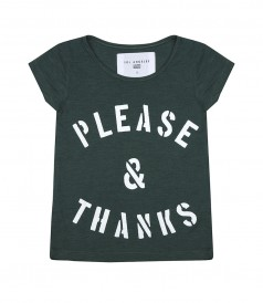 PLEASE & THANKS PRINTED SHORT SLEEVE TEE