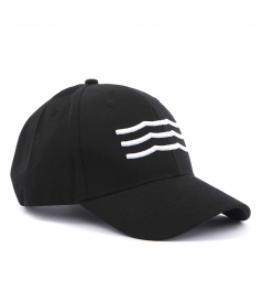 WAVES EMBROIDERED JOCKEY HAT