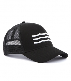 WAVES EMBROIDERED JOCKEY HAT FT MESH BACK
