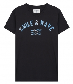 SMILE & WAVE PRINTED SHORT SLEEVE TEE