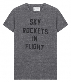 SKY ROCKETS IN FLIGHT PRINTED CREWNECK TEE