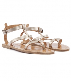 SHOES - MYKONOS FLAT SANDALS FT ANKLE BUCKLE FASTENING