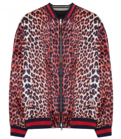 CLOTHES - REVERSIBLE LEOPARD PRINTED SATIN BOMBER JACKET