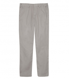 LIGHT TWILL MEDIUM RISE TROUSERS FT TAPERED LEGS