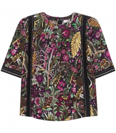 CLOTHES - WILD THINGS FLORAL PRINTED SHORT SLEEVE TOP