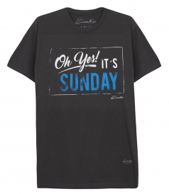 OH YES IT'S SUNDAY PRINTED SHORT SLEEVE TEE