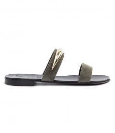 SHOES - RANDALL SANDAL WITH TWO SUPPORT STRAPS FT METALLIC DETAIL