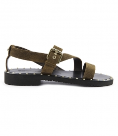 SHOES - SCOTT FLAT SANDALS FT BUCKLE-FASTENED ANKLE STRAP