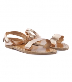 SHOES - AELIA FLAT SANDALS WITH ANKLE BUCKLE FASTENING