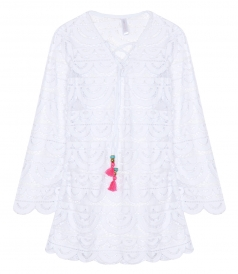 LITTLE NOAH LACE TUNIC COVER-UP