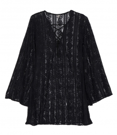 MIDNIGHT ARIANA LACE TUNIC COVER UP