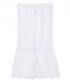 MARISA LACE BANDEAU ROMPER COVER-UP