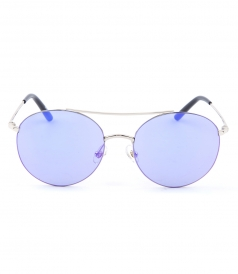 MATTHEW WILLIAMSON - BOHEMIAM 170 C1 ROUND SUNGLASSES WITH MIRRORED LENSES