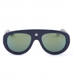 ROUND FRAME SUNGLASSES FT EMBOSSED LOGO