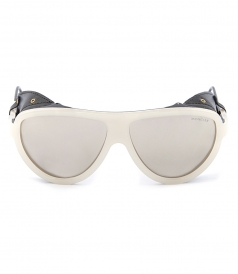 ACCESSORIES - WHITE VINTAGE AVIATOR SUNGLASSES FT CONTRASTING BLACK DETAILS