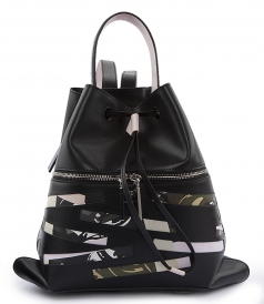 BAGS - BAG HAS BACK LEATHER BACKPACK WITH CAMOUFLAGE DETAILING