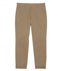 CROPPED TAPPERED PANTS IN COTTON