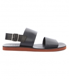 TWO STRAP ANKLE BUCKLE FASTENED SANDALS