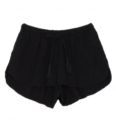 SHORTS - TASH LOW RISE SHORTS IN COTTON FT DRAWSTRING WAIST