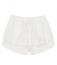 TASH LOW RISE SHORTS IN COTTON FT DRAWSTRING WAIST