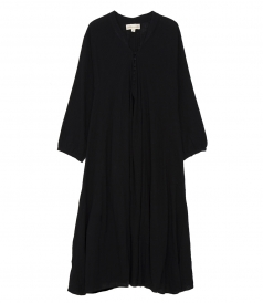 SALES - FIORE LONG SLEEVE MAXI DRESS IN COTTON GAUZE