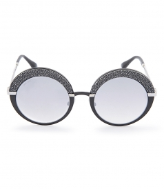 ACCESSORIES - GOTHA S PALLADIUM & GLITTER ROUND FRAME SUNGLASSES