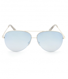 VICTORIA BECKHAM SUNGLASSES - CLASSIC VICTORIA LARGE AVIATOR SUNGLASSES IN BLUE GOLD