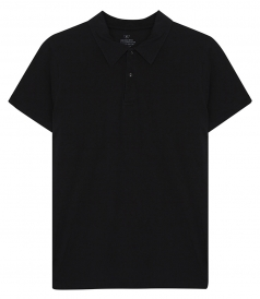 SHORT SLEEVE SUPIMA JERSEY POLO IN COTTON