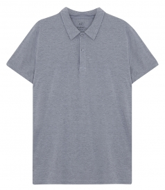 SHORT SLEEVE HEATHER JERSEY POLO IN COTTON