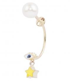 MICRO EYE & STAR STUDDED SINGLE EARRING