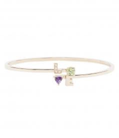 ACCESSORIES - LOVE SCULPTURED BRACELET FT PRECIOUS STONES