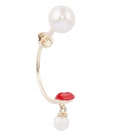 ACCESSORIES - MICRO LIPS & PEARL STUDDED SINGLE EARRING