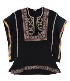 AFRICAN TRIBAL EMBROIDERED BOX TOP