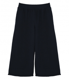 NAVY WIDE PULL ON WIDE LEG LOUNGE PANTS