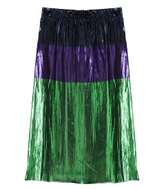 CLAUDIA MULTICOLORED PLEATED SKIRT