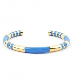 POSITANO BLUE JEAN STRIPED BANGLE