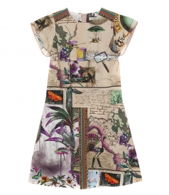 ETRO - BUTTERFLY PRINT FLARED DRESS